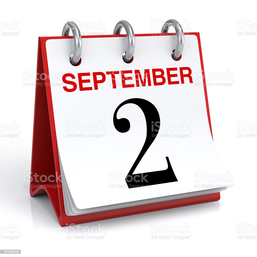 September Calendar royalty-free stock photo