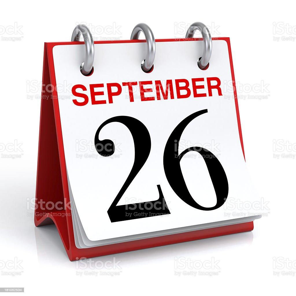 September Calendar stock photo