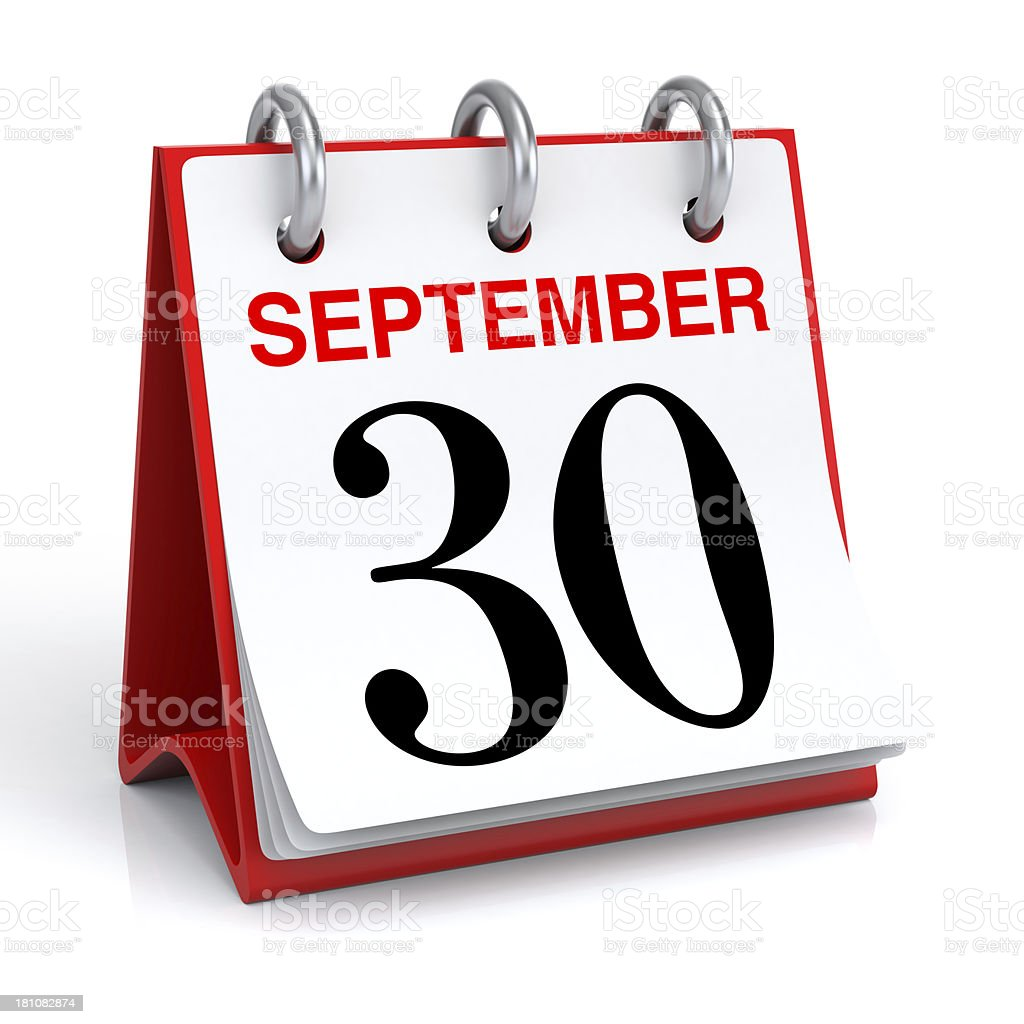 September Calendar stock photo