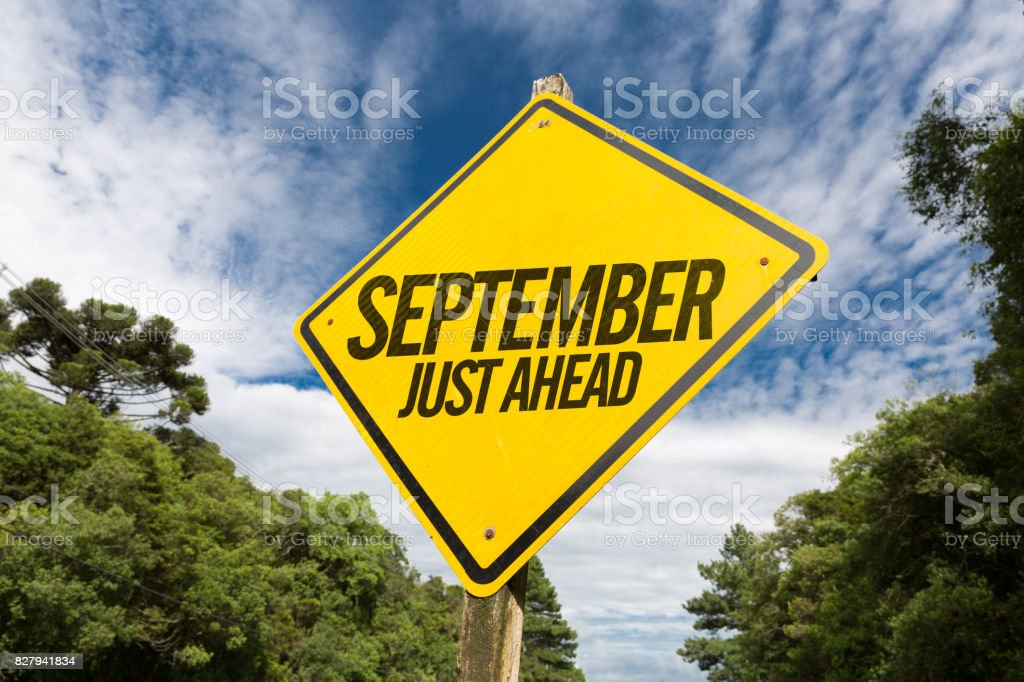 September Just Ahead stock photo