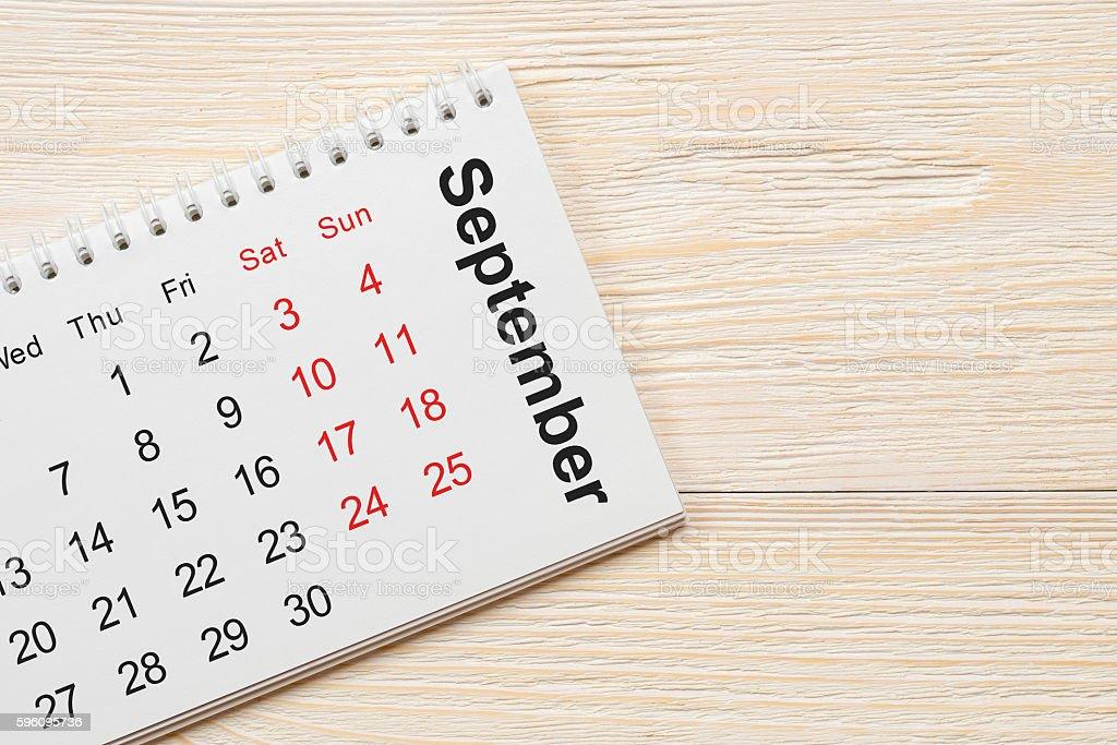 september notepad calendar concept royalty-free stock photo