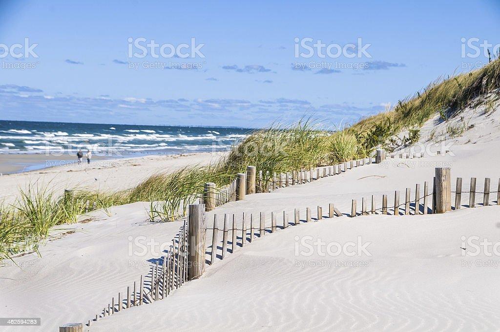 September Seaside Stroll stock photo