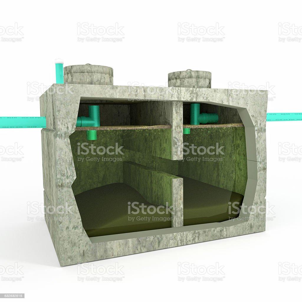 Septic Tank Detail stock photo