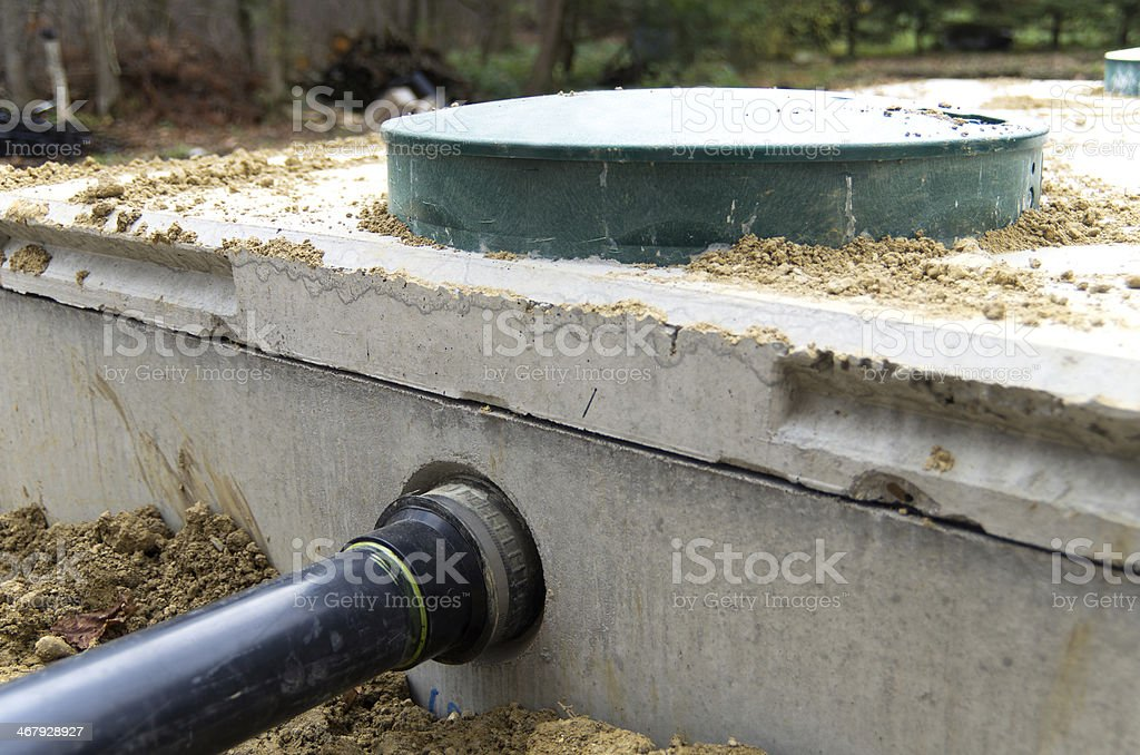 Septic Tank Installation stock photo