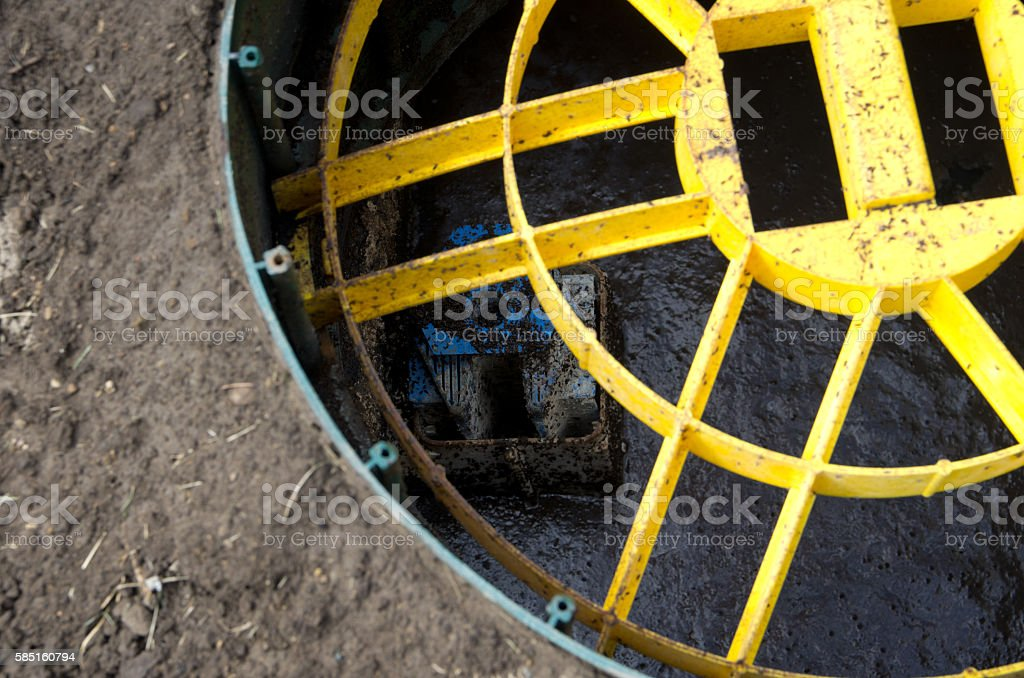 Septic Tank Outlet Filter Screen stock photo