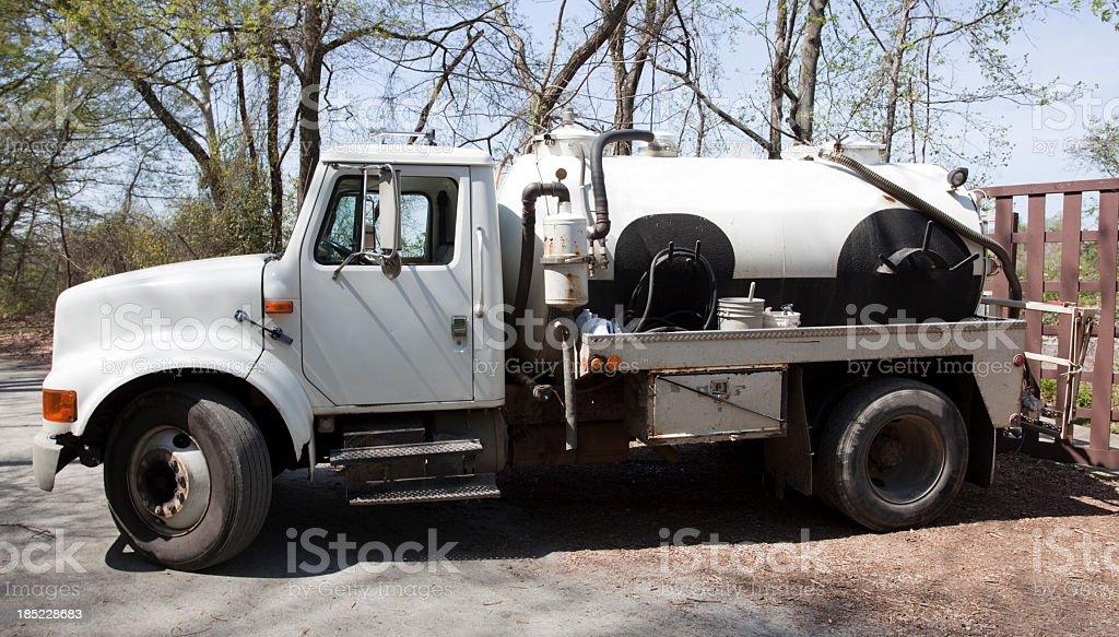 Septic Tank Pump Truck royalty-free stock photo