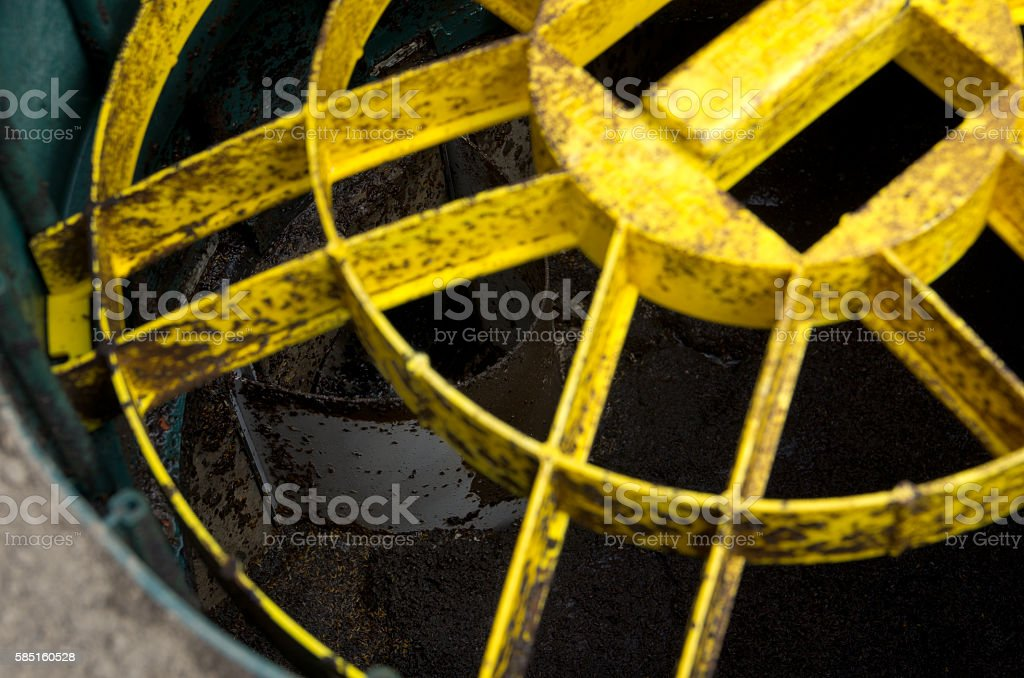 Septic Tank Safety Cover Closeup stock photo