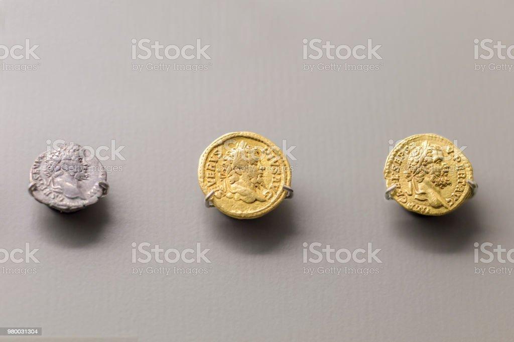 Septimius Severus Romn Emperor coins stock photo