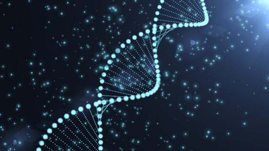 istock DNA sequence, DNA code structure with glow 1030969358
