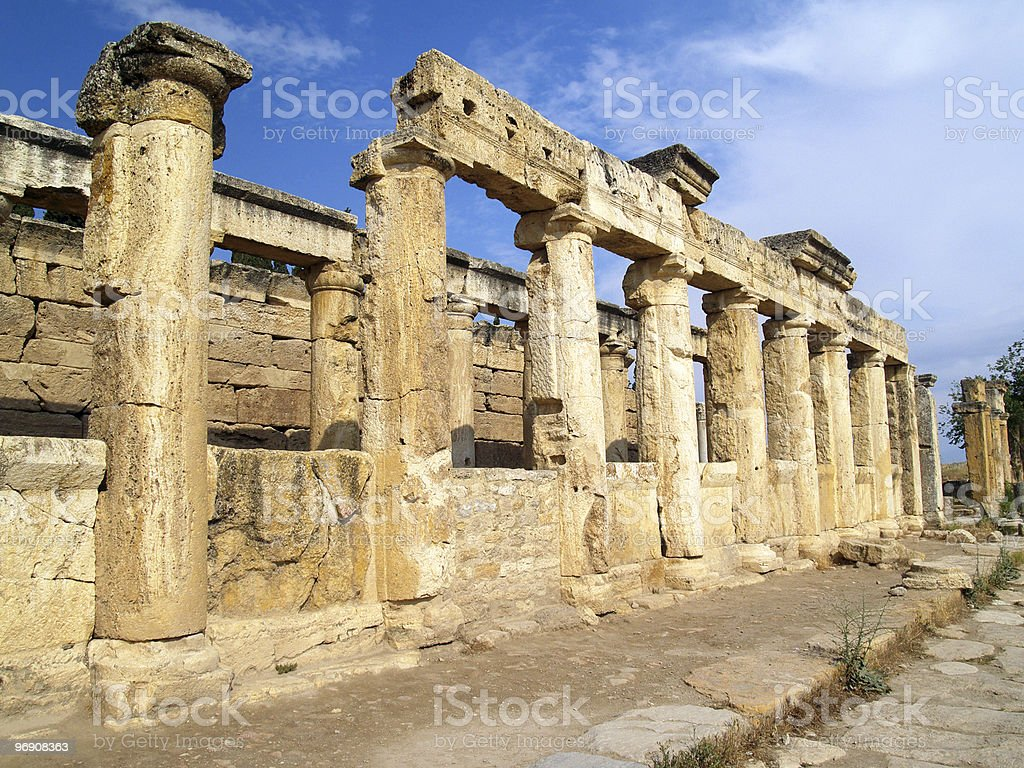 Sequence of columns royalty-free stock photo