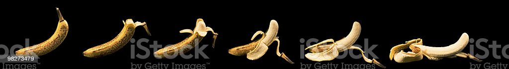 Sequenza: Sbucciare Banana foto stock royalty-free