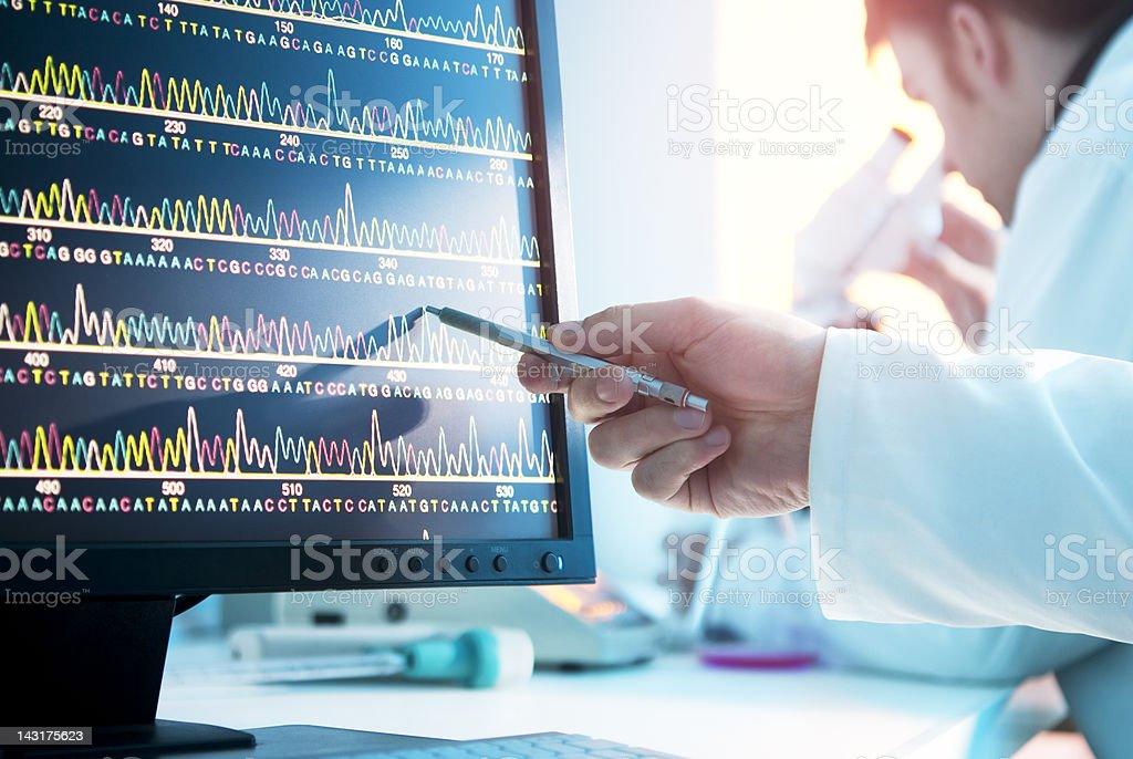 DNA-Sequence - Lizenzfrei Biologie Stock-Foto