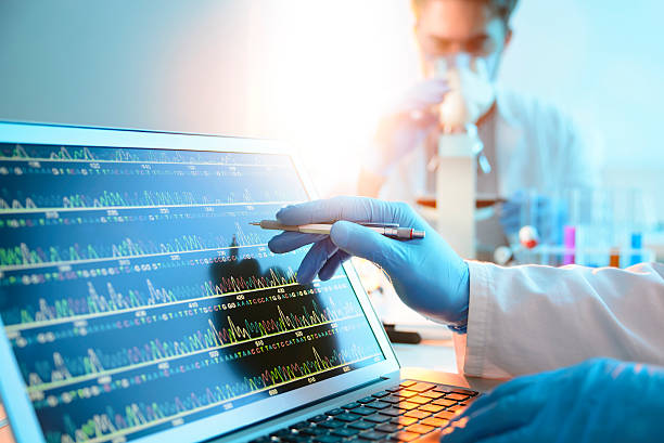 dna sequence - medical research stock photos and pictures