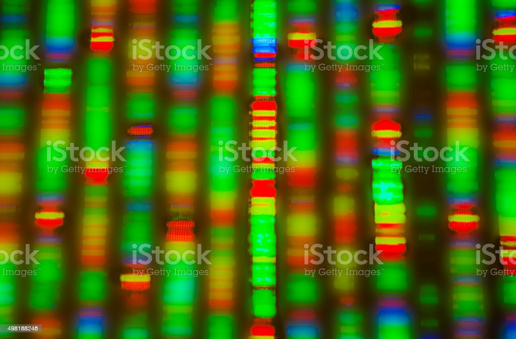 DNA sequence Graphic representation of the DNA sequence 2015 Stock Photo