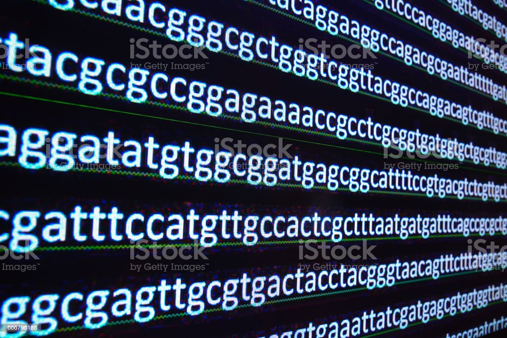 Sequencing of the genome. stock photo