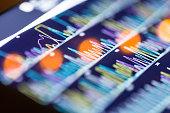 istock DNA sequencing peaks show 540852816