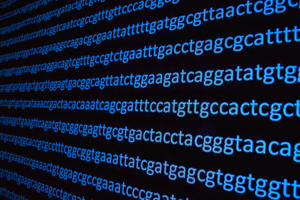DNA sequencing. DNA sequencing. Abstract background - genomic sequence. nucleotide stock pictures, royalty-free photos & images