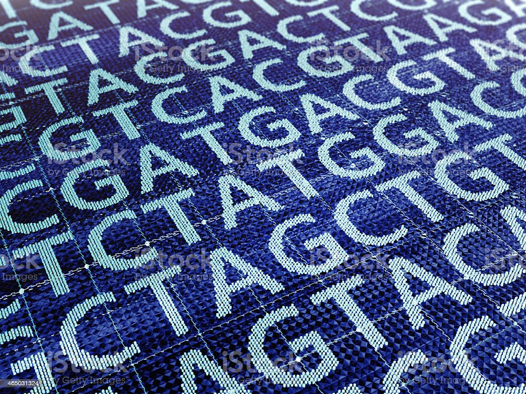 DNA sequencing stock photo