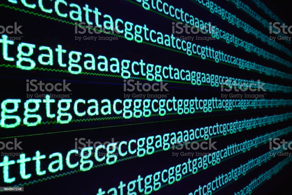 Sequencing the gene. stock photo