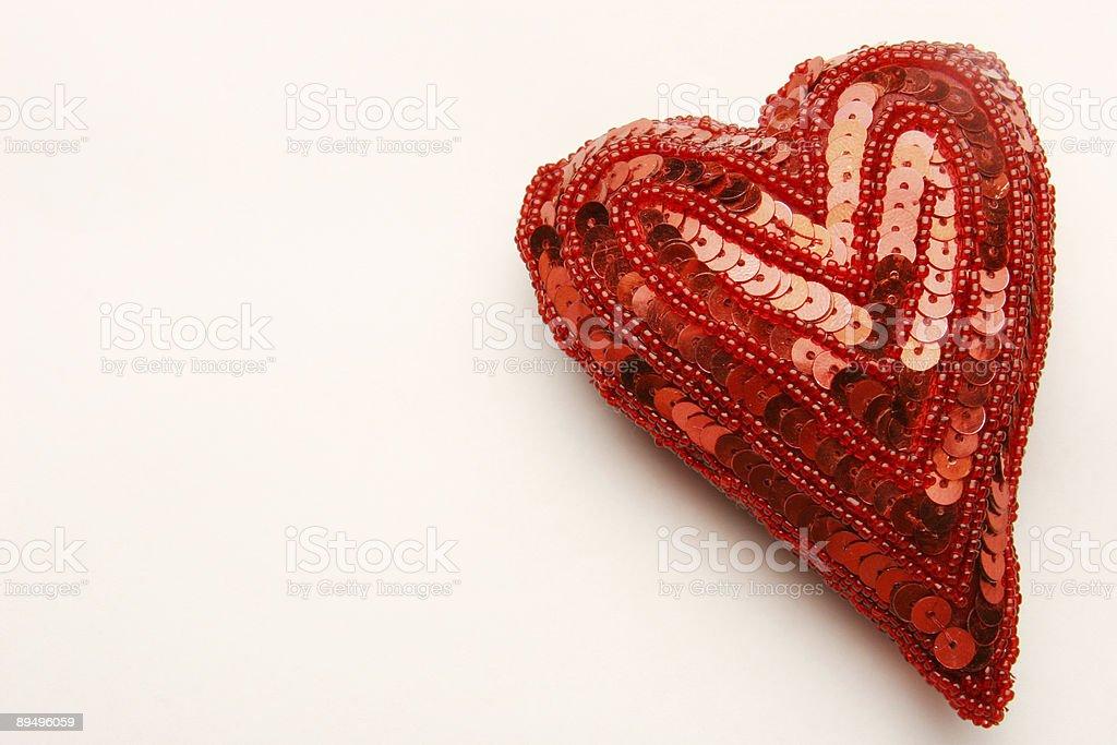 Sequin Heart royalty free stockfoto