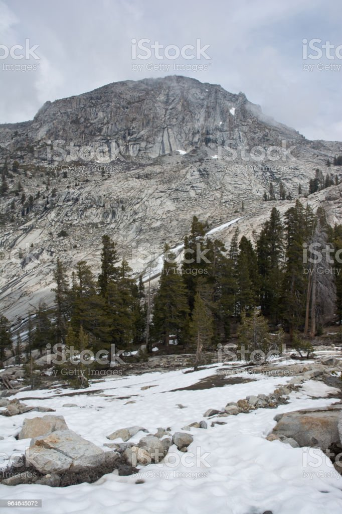 Sequoia and Kings Canyon National Park Lakes Trail - Alpine View royalty-free stock photo