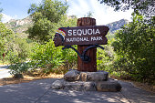 Sequoia National Park sign at California, United States
