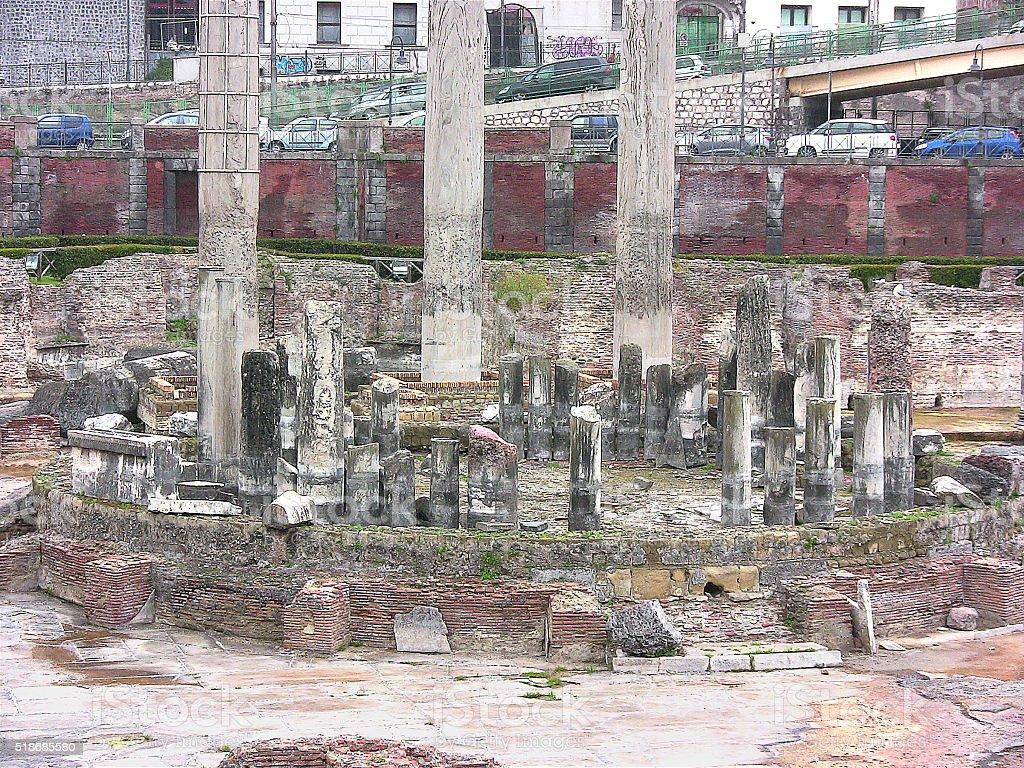 Serapis Temple detail stock photo