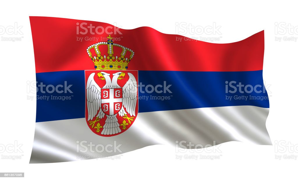 Serbia flag, A series of flags of the world. - fotografia de stock