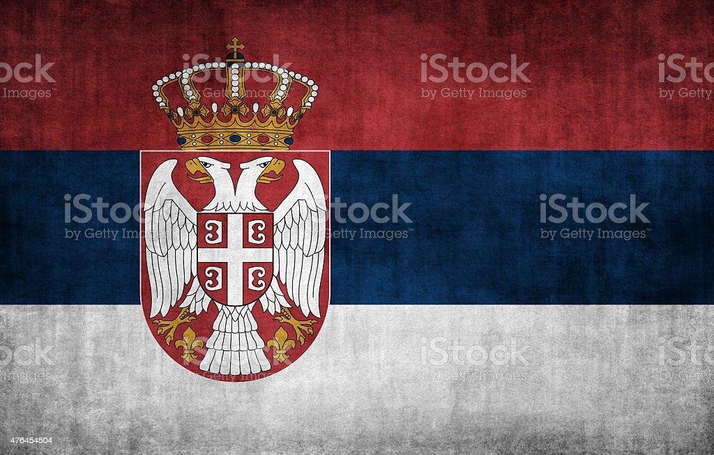 Bandeira da Sérvia - foto de acervo