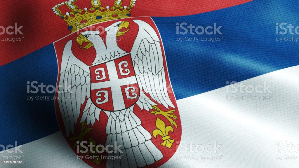 Serbia flag - fotografia de stock