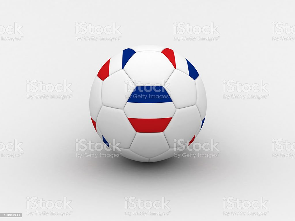 Serbia & Montenegro soccer ball royalty-free stock photo