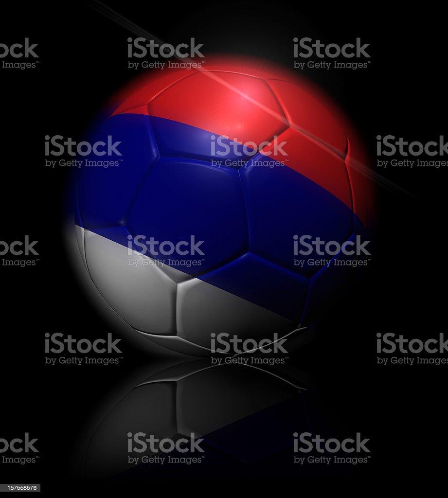 Sérvia bola de futebol - foto de acervo