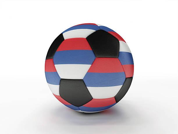 Serbia soccer football ball stock photo