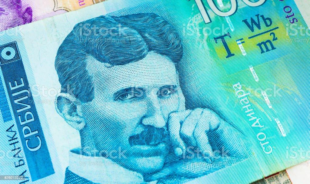 Serbian 100 Dinara Currency Banknote Close Up Stock Photo More