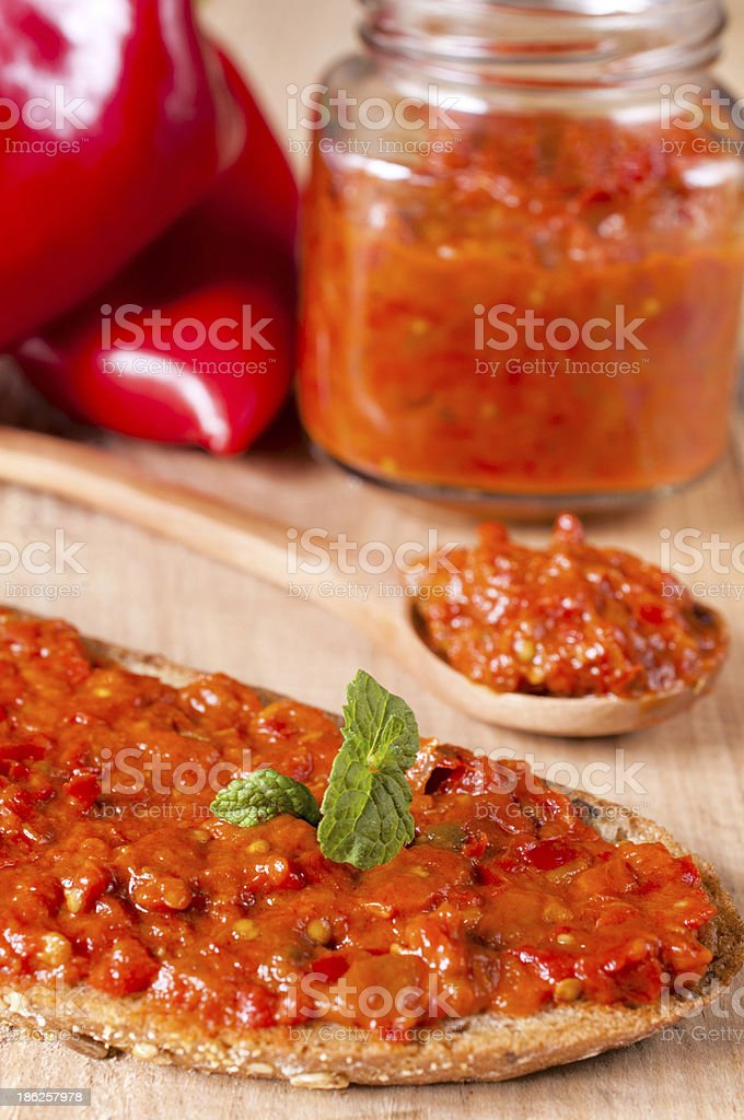 Serbian ajvar royalty-free stock photo