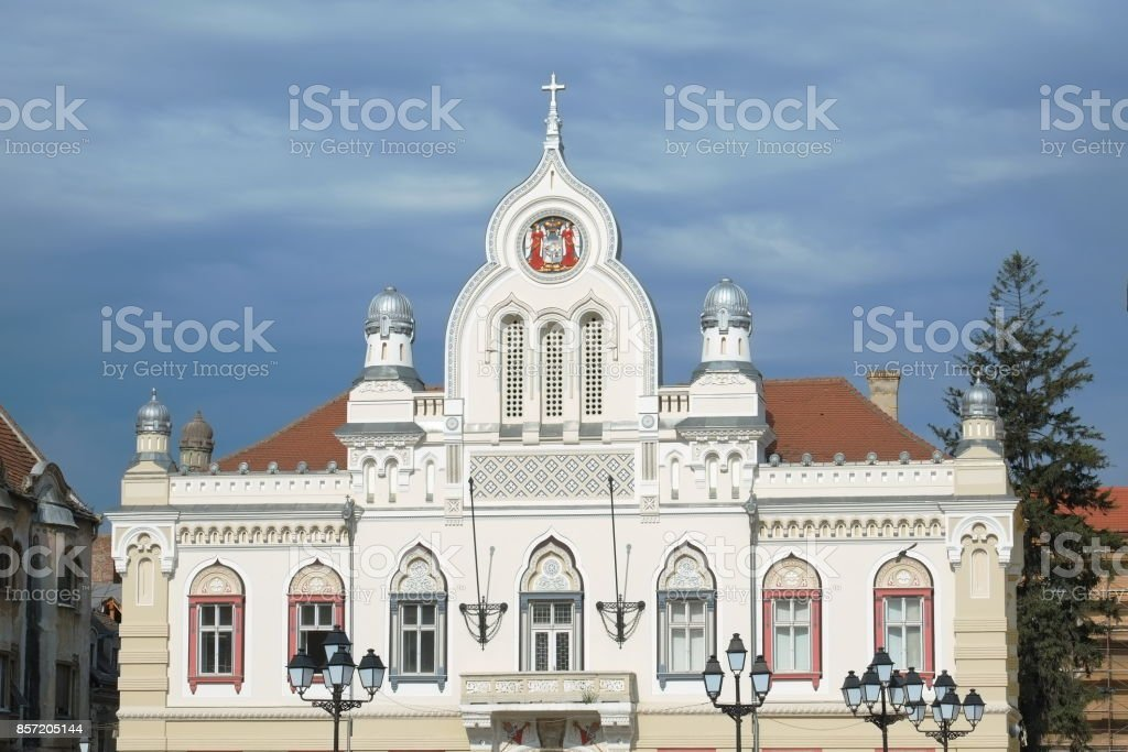 Serbian Bishop's Residence In Timisoara, Romania stock photo