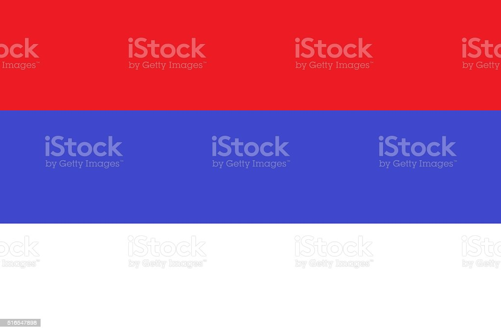 Bandeira Sérvia civil - fotografia de stock