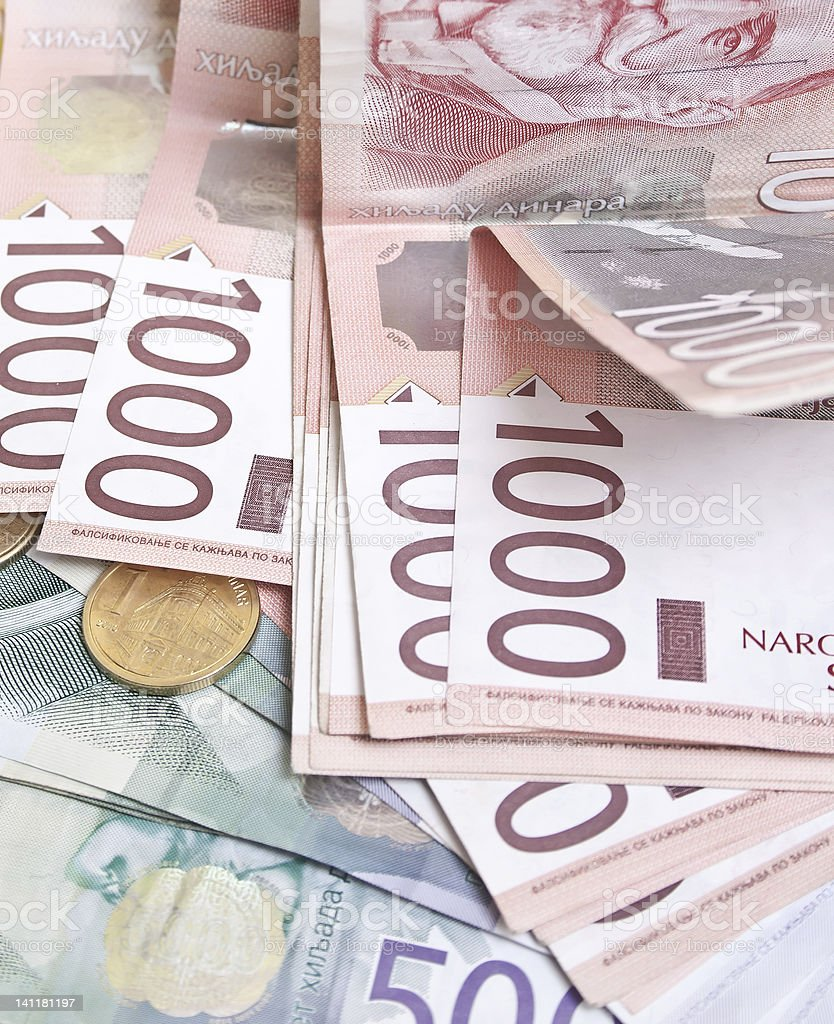 Serbian Dinar stock photo