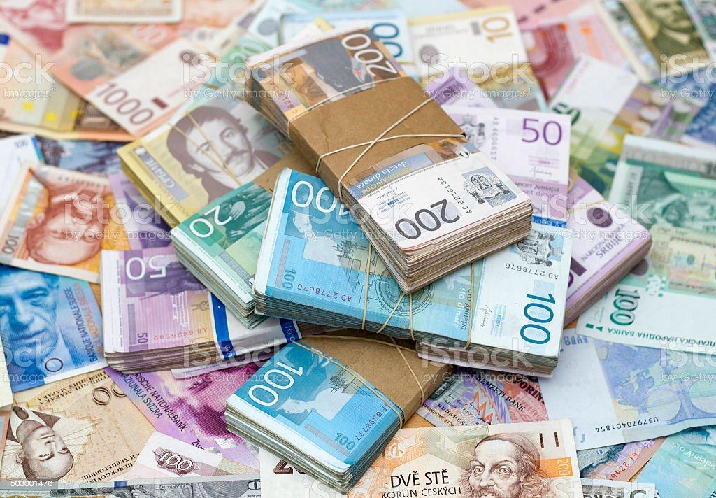 Serbian Dinar stock photo