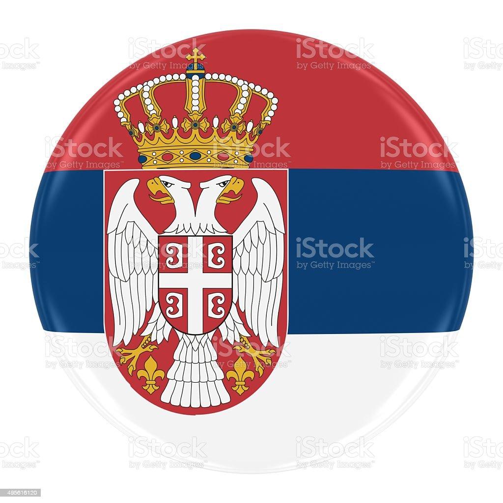 Emblema Bandeira da Sérvia - fotografia de stock