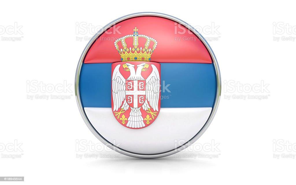 Bandeira da Sérvia - fotografia de stock