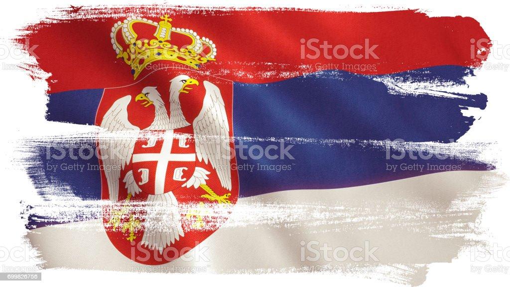 Serbian Flag - fotografia de stock