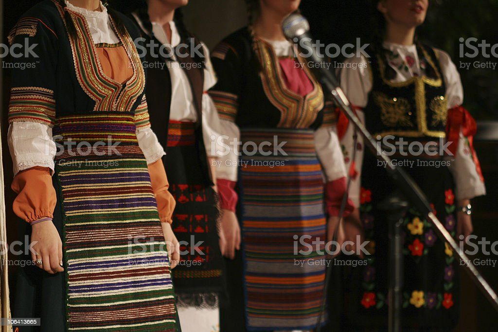 Serbian Folk Singers royalty-free stock photo