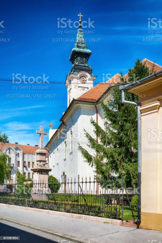 Serbian Orthodox Church of St. George in Sombor stock photo