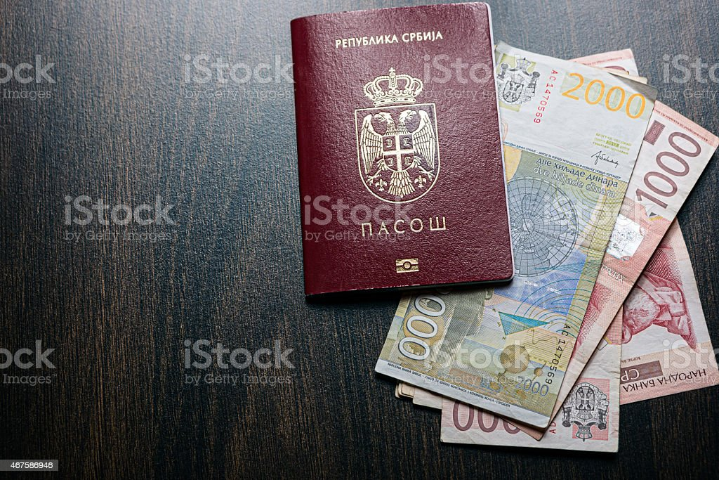 Serbian Passport And Currency Stock Photo More Pictures Of 2015