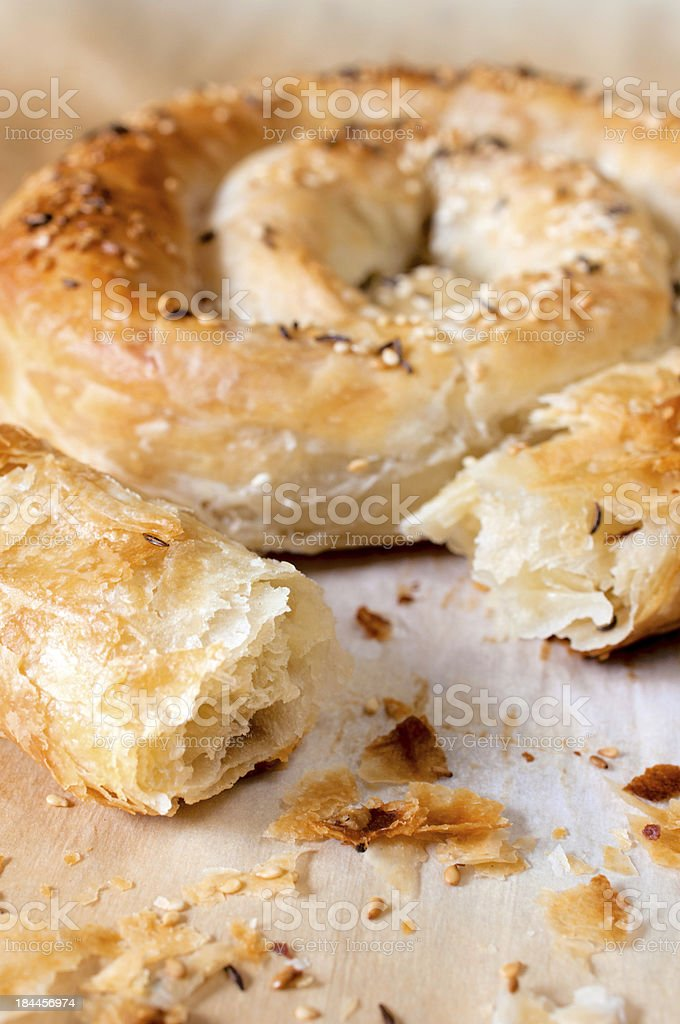 Serbian traditional pie royalty-free stock photo