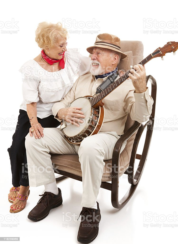 Serenading His Sweetie stock photo