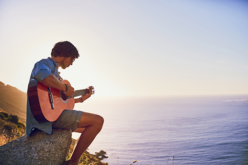 Serenading The Sea Stock Photo - Download Image Now