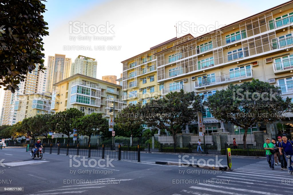 Serendra residential facade in Bonifacio Global City, Taguig, Philippines stock photo