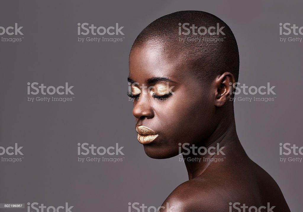 Serene african beauty stock photo